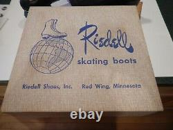 VINTAGE RIEDELL REDWING ROLLER SKATES 220 BLACK SIZE 7 withBox