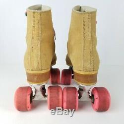VTG Riedell 130L Suede Roller Skates Sure Grip Super X 5R Women's Size 8 USA