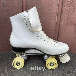 VTG Riedell 220W Roller Skates Size 8 1/2 Sure-Grip Plates Olympian Plus Belair