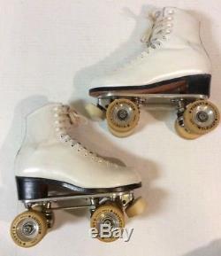 VTG Riedell 2214 Roller Skates SZ 7.5 Chicago Custom Rail Labeda Elegant Wheels