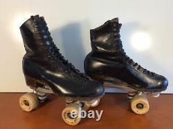VTG Riedell Century Roller Skates Womans 7Sure-Grip Plates Olympian Plus Belair