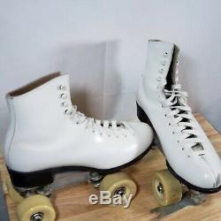 VTG Riedell Douglass Snyder Super Deluxe Plate Sz 7 Boot Size 10 Roller Skates