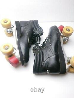 Vintage 80s Riedell Aerobiskate SureGrip Roller Skates Black Men's Size 11