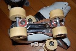 Vintage Artistic Roller Skates-Figure Skates, Riedell Size 8/ Atlas plates