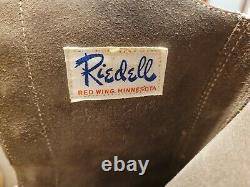 Vintage Chicago Trophy Custom Riedell Roller Skates Sz 8.5 Mens / Womens withCase