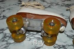Vintage DOUGLASS-SNYDER Custom-Built ROLLER SKATES with RIEDELL Silver Star Boots