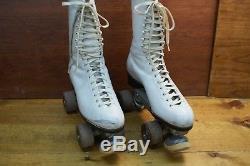 Vintage Douglas Snyder Custom Super Deluxe Riedell Roller Skates. Wm's 7.5
