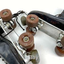 Vintage Douglas Snyder's Super Deluxe Mens Roller Skates Riedell Boots Size 10
