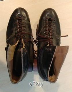 Vintage Douglas Snyders Custom Built Black Riedell Roller Skates Size 10