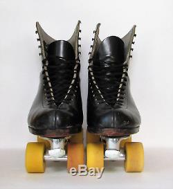 Vintage Mens Riedell Gold Star Competition Roller Skates Sz 8 Vanguard Tigerclaw