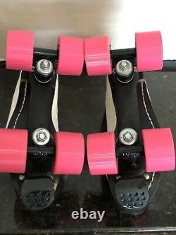 Vintage Old School White Riedell USA Speed Roller Skates Panera Wheels SIZE 8