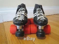 Vintage Oldschool Women's Riedell RS-1000 black roller skates, Size 7