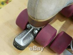 Vintage Original Riedell Tan Suede Women's Size 7 130L Roller Skates derby 130 L