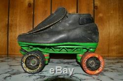 Vintage Pair Of RIEDELL 395 (Size 7.5) ROLLER SPEED SKATES with SUNLITE Plates