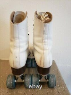 Vintage RIEDELL RED WING LEATHER SURE GRIP CENTURY PLATES ROLLER SKATES Size 9