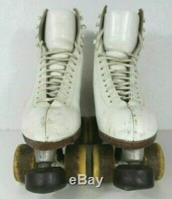 Vintage RIEDELL Red Wing Minn. Women's Roller Skates Atlas Plates Size 7 White