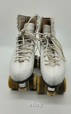 Vintage RIEDELL Red Wing Suregrip 4 USA ROLLER SKATES Size 6 N6-E2 Wool Tongue
