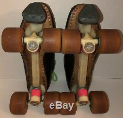 Vintage RIEDELL USA 595 Roller Speed Laser Skate SZ 11 Custom Suregrip Hugger