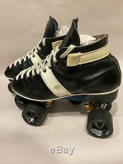 Vintage Rann Alli Plates Speed Skates S8 Boot Brand Unknown Riedell 595 Style