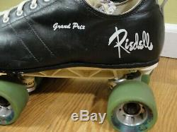 Vintage Rare Riedell Grand Prix Low Cut Indoor Roller Skates withSunlite II 10 1/2
