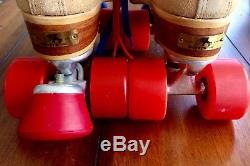 Vintage Red Wing Riedell Womens Roller Skates Size 7 Camel Excellent Condition