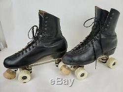 Vintage Riedell 220 Boots Roller Skates Chicago Custom SIZE 11 BLACK
