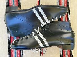 Vintage Riedell 265 12 1/2 B Black Leather Speed Skate Boot