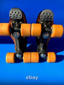 Vintage Riedell 265 Roller Speed Skates, Panther Plates, Huggers, Mens 7.5 Rare