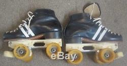 Vintage Riedell 265 Speed Quad Mens 4 1/2 Roller Skates Laser Zinger 4.5