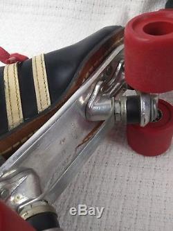 Vintage Riedell 265 Speed roller skate Red Wing boot MEN'S 7.5 Red Devil wheels