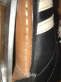 Vintage Riedell 265 Speed roller skate shoes boot MEN'S 8 Roller skates Blk