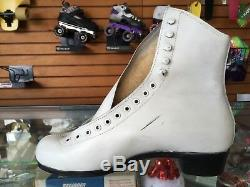 Vintage Riedell 297 Women's 9 White Skate Boots NOS