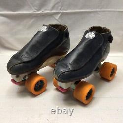 Vintage Riedell 395 Speed Skates Laser Skate Co. Plates Jam Derby Roller Skates