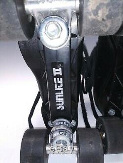 Vintage Riedell Black Speed Roller Skates Size 6