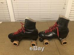 Vintage Riedell Black roller skates Mens Size 10