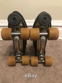 Vintage Riedell Black roller skates Mens Size 9 With Original Box