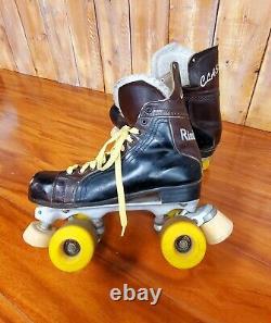 Vintage Riedell Classic Roller Skates Pacer Crown Krypto Wheels Women 9 Men 7.5