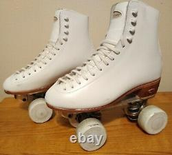 Vintage Riedell Custom Chicago 220w #4 Roller Skates Size 6 MADE IN RED WING USA