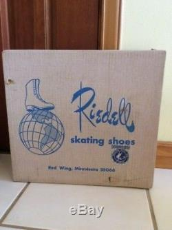 Vintage Riedell Gold Star Roller Skates Women's White size 7.5 Great condition