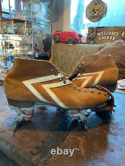 Vintage Riedell IFO Roller Skate Boots With Independent Plates Mens 9 Women's 10