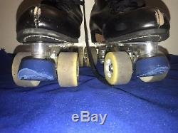 Vintage Riedell Labeda Pro Line Roller Skates Mens Size 13 -RARE YELLOW WHEELS