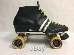 Vintage Riedell RED WING Sure-Grip Roller Skates MAD DOG 62m Wheels Men's 14