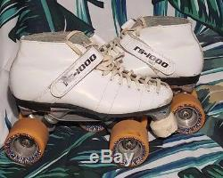 Vintage Riedell RS-1000 White Speed Skates size 5.5-6