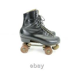 Vintage Riedell Red Wing 220W USA Roller Skates Mens 10 Black Douglas Snyder