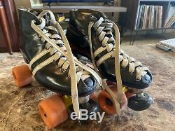 Vintage Riedell Red Wing Custom Roller Speed Skates Mens 5 Sure Grip Plates