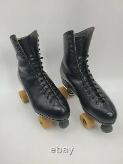 Vintage Riedell Red Wing Minnesota USA Roller Skates Mens 9.5 Black Sure Grip