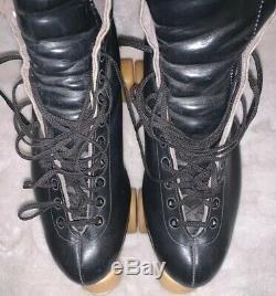 Vintage Riedell Red Wing Skates Mens 10 Sure Grip Plates Bones Wheels FANTASTIC