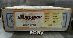 Vintage Riedell Red Wing Super X Roller Skates Sz 10 Sure Grip Suede Tan Krypto