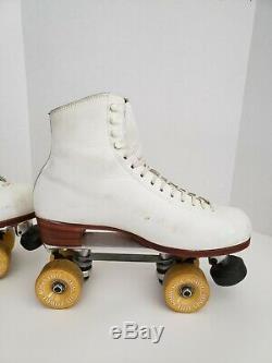 Vintage Riedell Red Wing Sure Grip Roller Skates Mens 11 Powell Bones Wheels