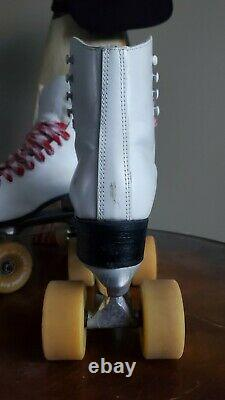 Vintage Riedell Red Wings Roller Skates With POWELL BONES Wheels! Mens Size 8 USA